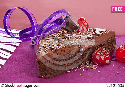 Free Chocolate Cake. Royalty Free Stock Photo - 22121535