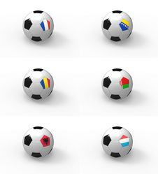 Free Euro 2012, Soccer Ball With Flag - Group D Stock Photo - 22122120