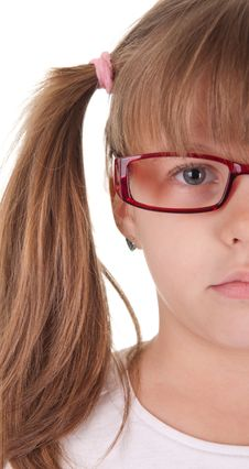 Free Little Beauty With Red Glasses Stock Photos - 22124443