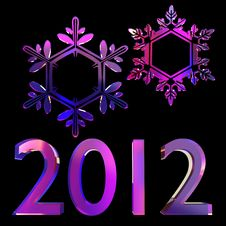 Free New Year 3d Set Royalty Free Stock Photography - 22127047