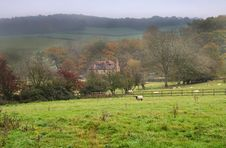An English Rural Landscape In Autumn Stock Photography
