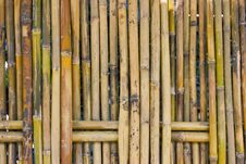 Free Bamboo Fence. Stock Images - 22131384