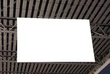Blank Billboard Hanged On Ceiling Royalty Free Stock Photos