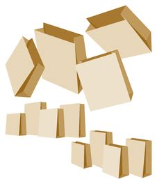 Free Set Of Paper Bags Royalty Free Stock Images - 22132439