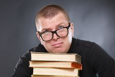 Free Laborious Knowledge Of The Professor. Royalty Free Stock Images - 22135789