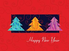 Free The Red New Year Card Royalty Free Stock Photo - 22136045