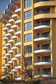 Free Windows And White Balconies Stock Photos - 22136063