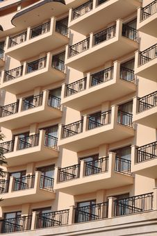 Free Windows And Yellow Balconies Royalty Free Stock Photos - 22136218