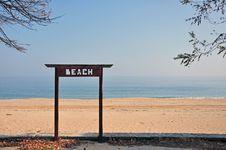 Free Yellow Autumnal Beach Royalty Free Stock Photos - 22136818