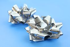 Free Two Silver Bows Stock Photo - 22137910