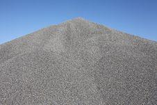 Gray Gravel Mound Royalty Free Stock Photos