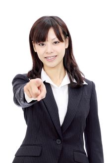 Free Young Asian Business Woman Stock Photos - 22139763