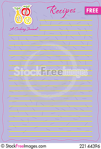 Free Template Design For A Recipe Book Royalty Free Stock Image - 22144396