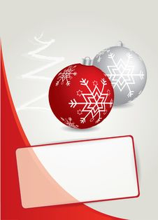 Free Red Christmas Background With Christmas Balls Stock Photo - 22140390