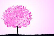 Free Pink Tree. Stock Image - 22141981
