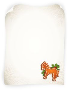 Free Empty Vintage Sheet With Gingerbread Horse Stock Photography - 22142122