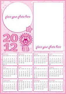 Little Girl Calendar 2012 Stock Images