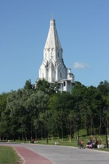 Moscow. Church Of Vozneseniay In The Estate Kolome Stock Image