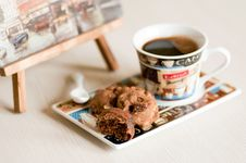 Free Coffee And Cookies Royalty Free Stock Photo - 22144715