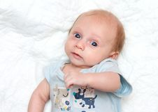 Happy Baby Looking To The Camera Royalty Free Stock Images