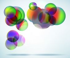 Free Floating Colorful Orbs Stock Images - 22151184