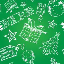 Free Hand Drawn Christmas Tile Royalty Free Stock Photos - 22151358