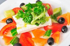 Free Feta Salad Royalty Free Stock Photo - 22151535