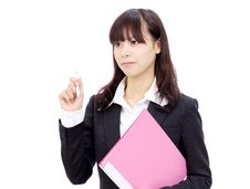 Free Young Asian Business Woman Royalty Free Stock Photography - 22152227