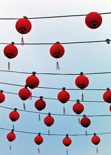 Free Chinese Paper Lanterns Royalty Free Stock Photography - 22156967