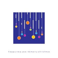 Christmas Card With Balls Stock Image
