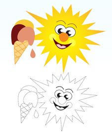 Free Sun And Ice Cream Stock Images - 22157024