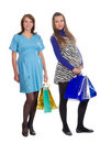 Free Beautiful Pregnant Womens  In Shopping Royalty Free Stock Photo - 22167645