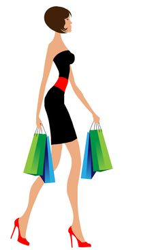 Free Woman With Shopping Bags Royalty Free Stock Photography - 22160787