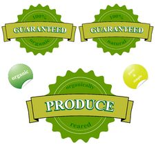 Free Organic 100 Guaranteed Seals Royalty Free Stock Images - 22161029