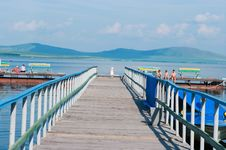 A Pier On Lake Royalty Free Stock Images