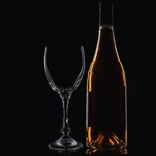 Free Wine Glass  And Wine Bottle Stock Photos - 22161493