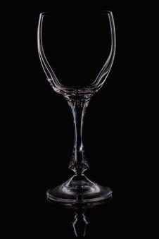 Free Single Empty Wine Glass Royalty Free Stock Image - 22161516