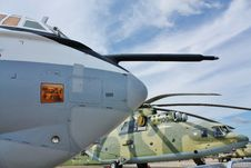 Nose Of The Military Aircraft Stock Images
