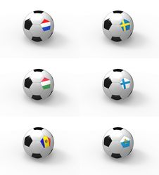 Free Euro 2012, Soccer Ball With Flag - Group E Stock Photography - 22165262