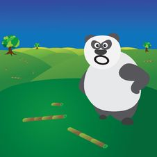 Free Deforestation Concept - Angry Panda Without Food Stock Images - 22168204
