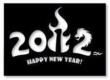 Free Greeting Card 2012 Minimalism Style Stock Image - 22169041