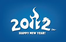 Greeting Card For New Year 2012 Celebration Stock Photo