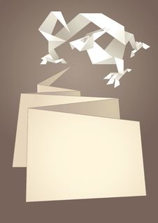 Free Paper Speech Bubble, Dragon Origami Royalty Free Stock Photos - 22170598