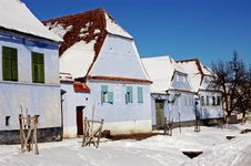 Saxon Houses In Viscri, Transylvania, Romania Royalty Free Stock Images