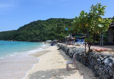 Beach Of Some One Island In Asia Stock Photo