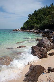 Free Sea Beach With Rocks Royalty Free Stock Image - 22171056