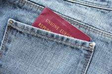 Passport In The Backpocket Royalty Free Stock Image