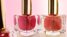 Free Nail Polish Glass Bottles Royalty Free Stock Image - 22172276