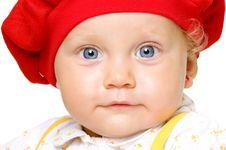 Free Infant With Big Blue Eyes Stock Photo - 22172580