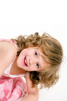Free Young Girl Smiling On Isolated White Background Royalty Free Stock Photo - 22172665